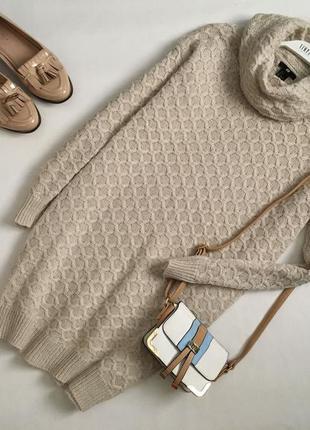 Женское стильное тёплое платье туника h&m s m
