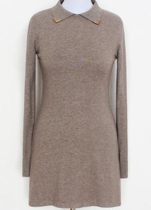 Классное женское туника-платье цвета капучино