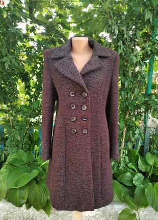 Классическое пальто из натуральной шерсти 48р