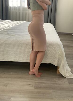 Бандажная юбка с замком сзади love republic
