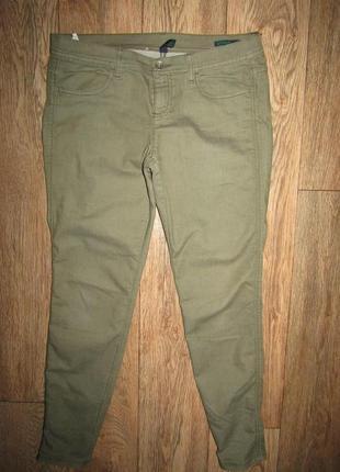 Тонкие зауженные джинсы брюки р-р л стрейч united
