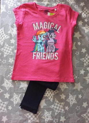 Комплект футболка и лосины 6-7 лет (116-122 см) george