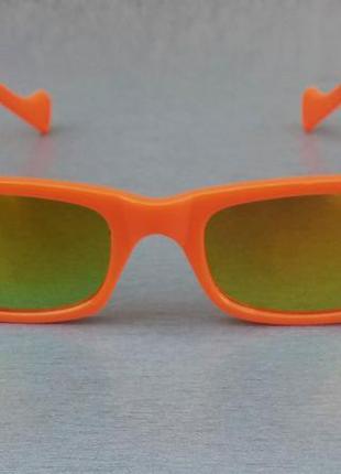 Gucci очки унисекс солнцезащитные модные узкие оранжевые линзы желтые зеркальные