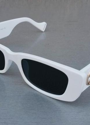 Gucci очки женские солнцезащитные модные узкие белые