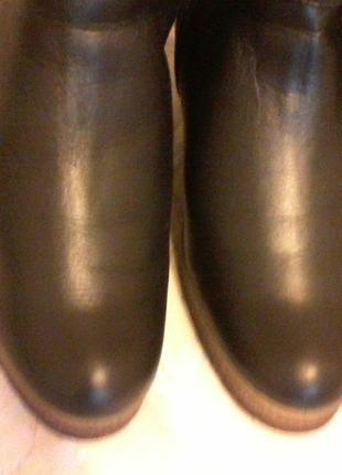 Зимние сапоги кожаные, разм.39