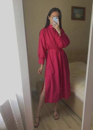 100% cotton жіноча міді сукня