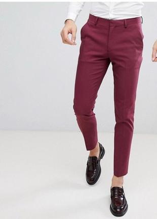 Asos зауженные хлопковые брюки.