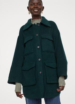 Шерстяная куртка-рубашка premium selection