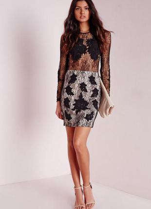 Вечернее гипюровое платье missguided