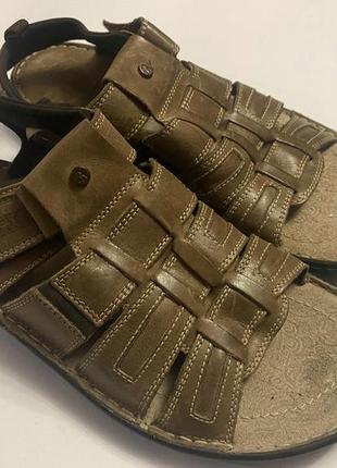 Мужские кожаные сандалии alberto torresi