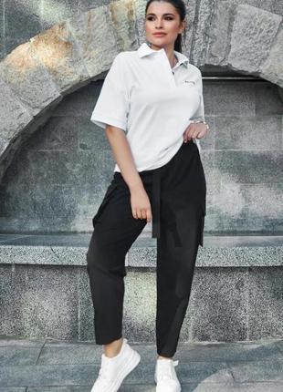 Elevate белая футболка поло женская