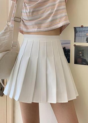 Теннисная юбка белая/чёрная