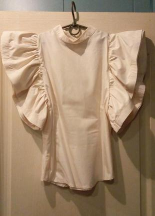 Блуза с рукавом фонарик, крылья