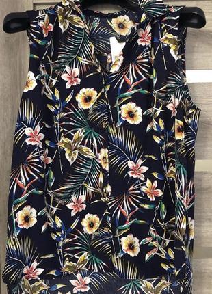 Новая легкая блуза george в яркий цветочный принт