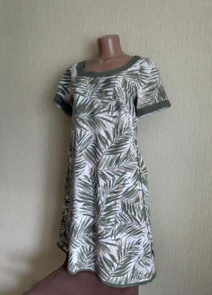Льняное платье бренда marks & spencer