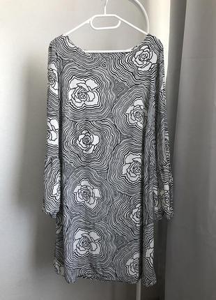 Платье женское миди цветочный принт
