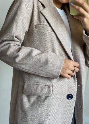 Кашемировый пиджак свободного кроя