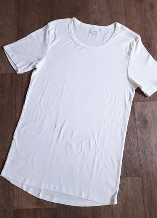 Нательная хлопковая футболка белая livergy германия