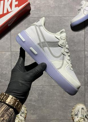 Кросівки  nike air force 1 low react white blue.
