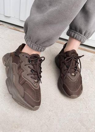 Кроссовки адидас ozweego brown