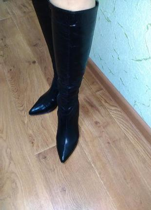 Новые кожаные зимние сапоги 36 размера