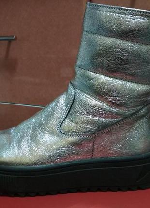 Ботинки зимние кожаные dion richi stael 212 silver