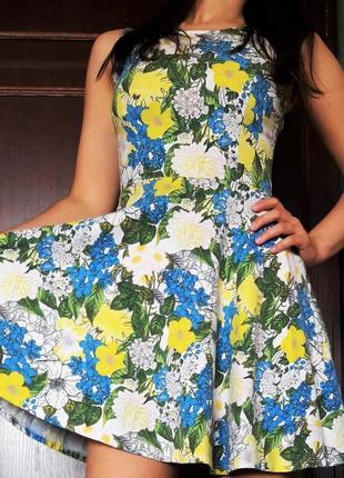 Платье с цветами цветочный сарафан