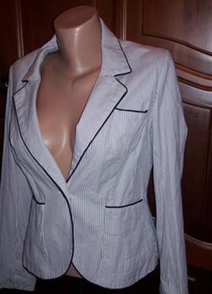 Пиджак жакет в полоску
