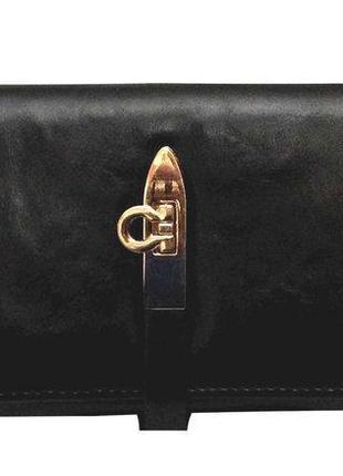 Кошелек/черный кошелек/стильный кошелек/клатч/женский черный кошелек