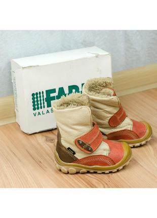 Зимние кожаные ботинки на девочку или мальчика fare чехия 20р. 13 см.