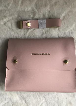 Новая розовая косметичка-сумочка piquadro