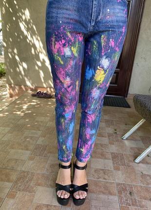 Новые джинсы коттоновые