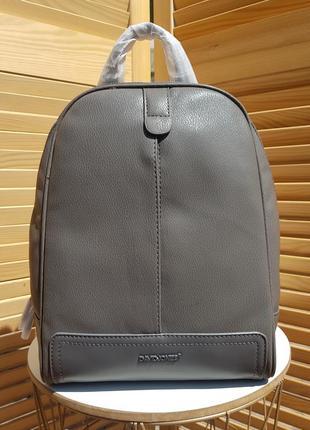 Стильный городской серый женский рюкзак