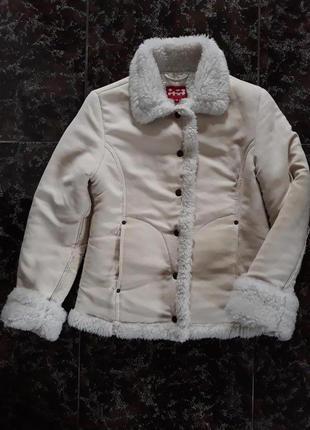 Куртка на исскуственном меху, дублёнка.