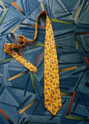 Шолковий галстук ручной роботи giorgio armani
