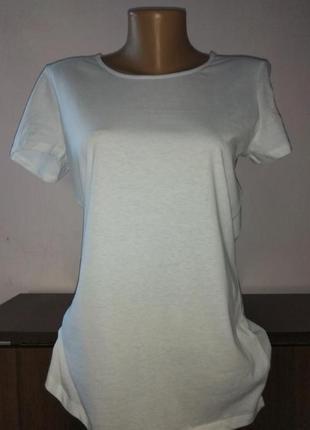 Белая біла базова жіноча футболка терранова