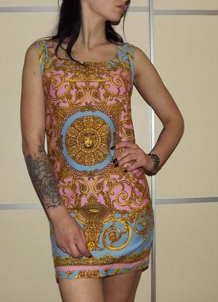 Вечернее красивое платье. 100 % котон италия . для особых случаев с изумительным рисунком