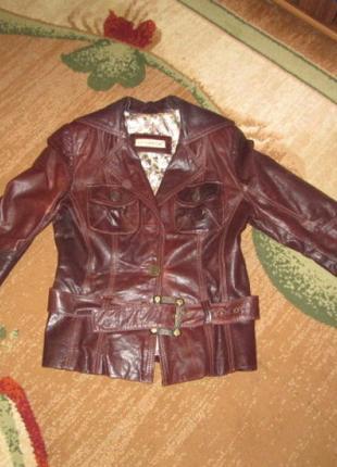 Пиджак кожаный-эффект потертостей