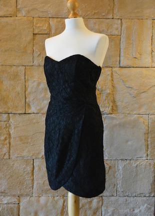 Акция 1+1=3! шикарное платье-бюстье с кружевом от h&m