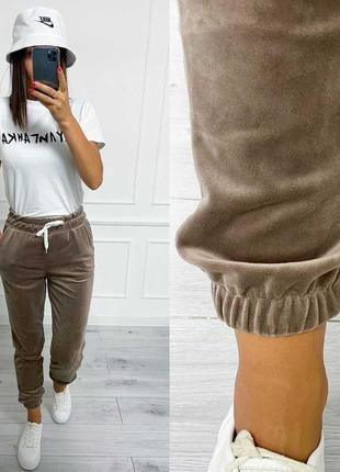 Велюровые штаны плюш