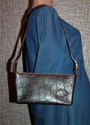 Оригинальная кожаная сумка mulberry серийный номер