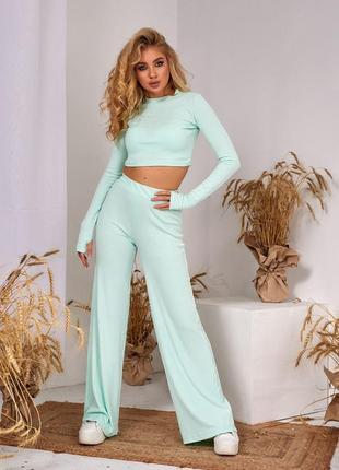 Женский повседневный костюм с брюками