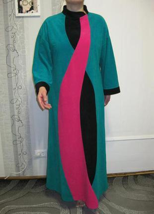 Роскошный халат ночное дневное платье макси ночнушка туника на высокую леди л-хл,