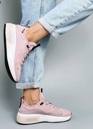 Женские крутые сиреневые текстильные кроссовки