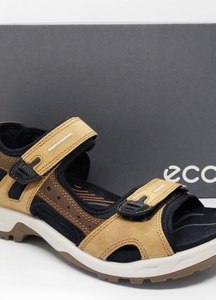 Шикарные кожаные сандалии босоножки ecco offroad оригинал