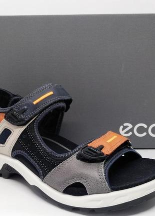 Стильные яркие кожаные сандалии босоножки ecco offroad оригинал