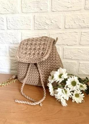 Вязаный рюкзак сумка