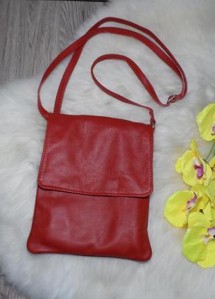 Кожаная  сумочка бренда vera pelle! производство италия!