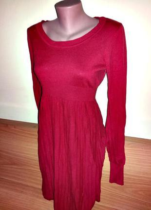 Теплое платье длинное с красивыми рукавами