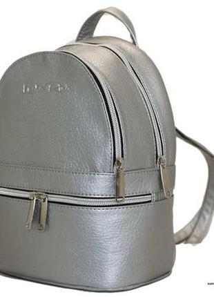 Мини рюкзак серебро луцк